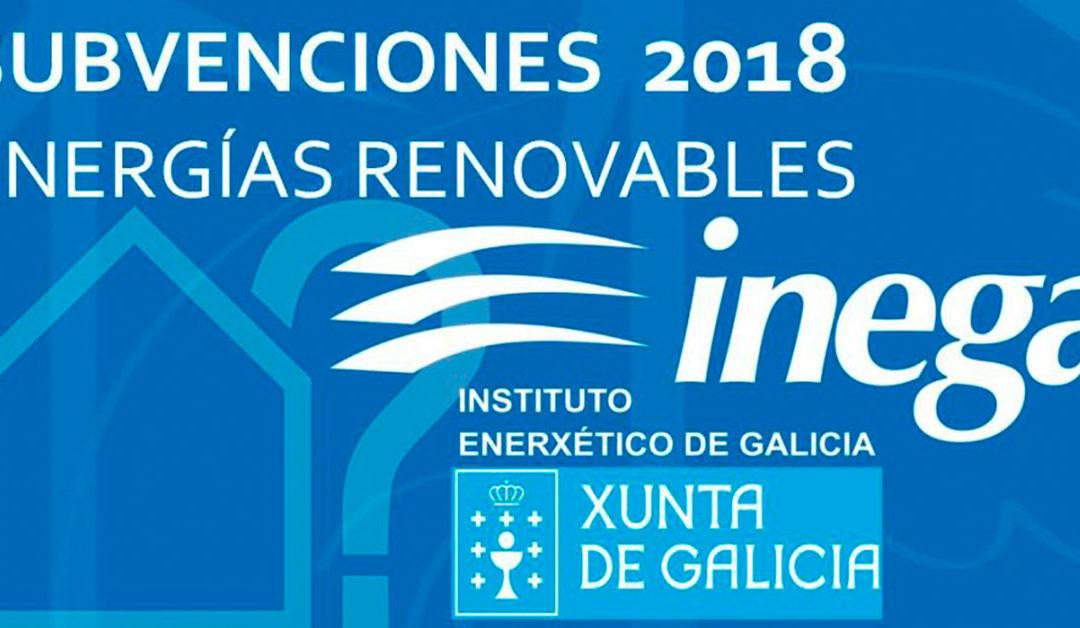Subvenciones Energias Renovables Galicia Inega