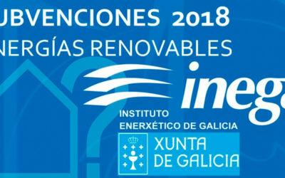 Subvenciones de eficiencia Xunta 2018